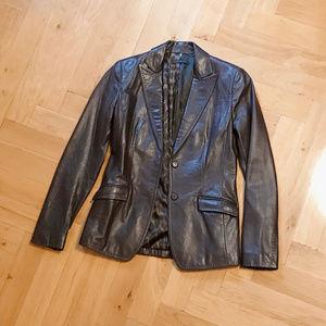 Elie Tahari Blazer-Cut 100% Leather Jacket